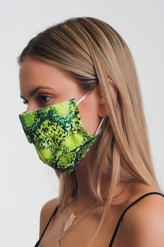 Q2 Green Snake Face Mask - Product List Image