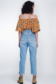 Q2 High Waist Mom Jeans With Button Front - Other
