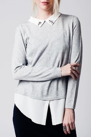 Q2 Jeweled Collar Top - Front cropped