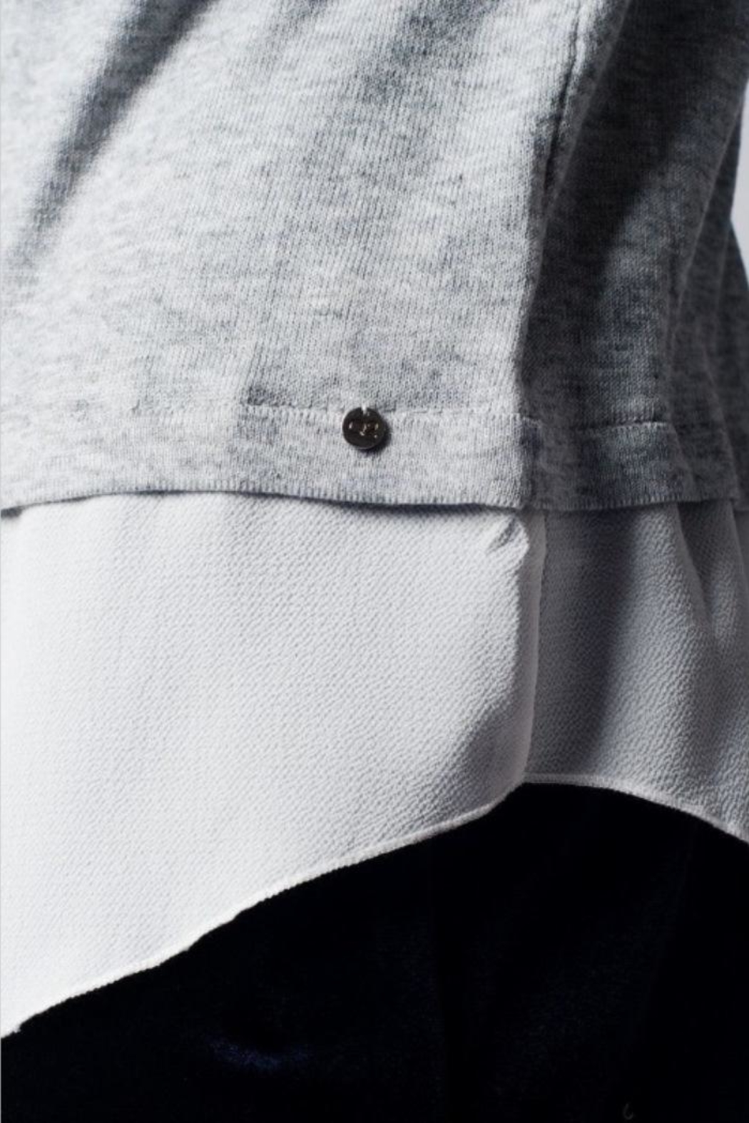 Q2 Jeweled Collar Top - Back Cropped Image
