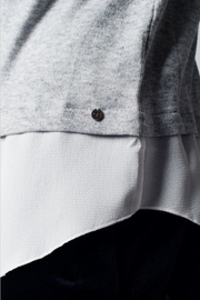 Q2 Jeweled Collar Top - Back cropped