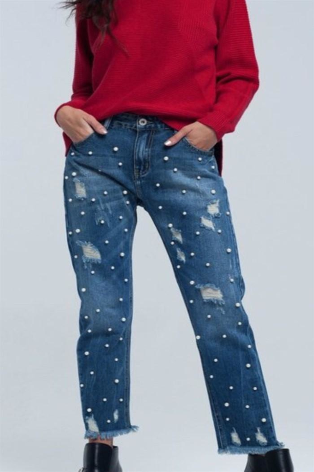 Q2 Mom Jeans - Front Cropped Image