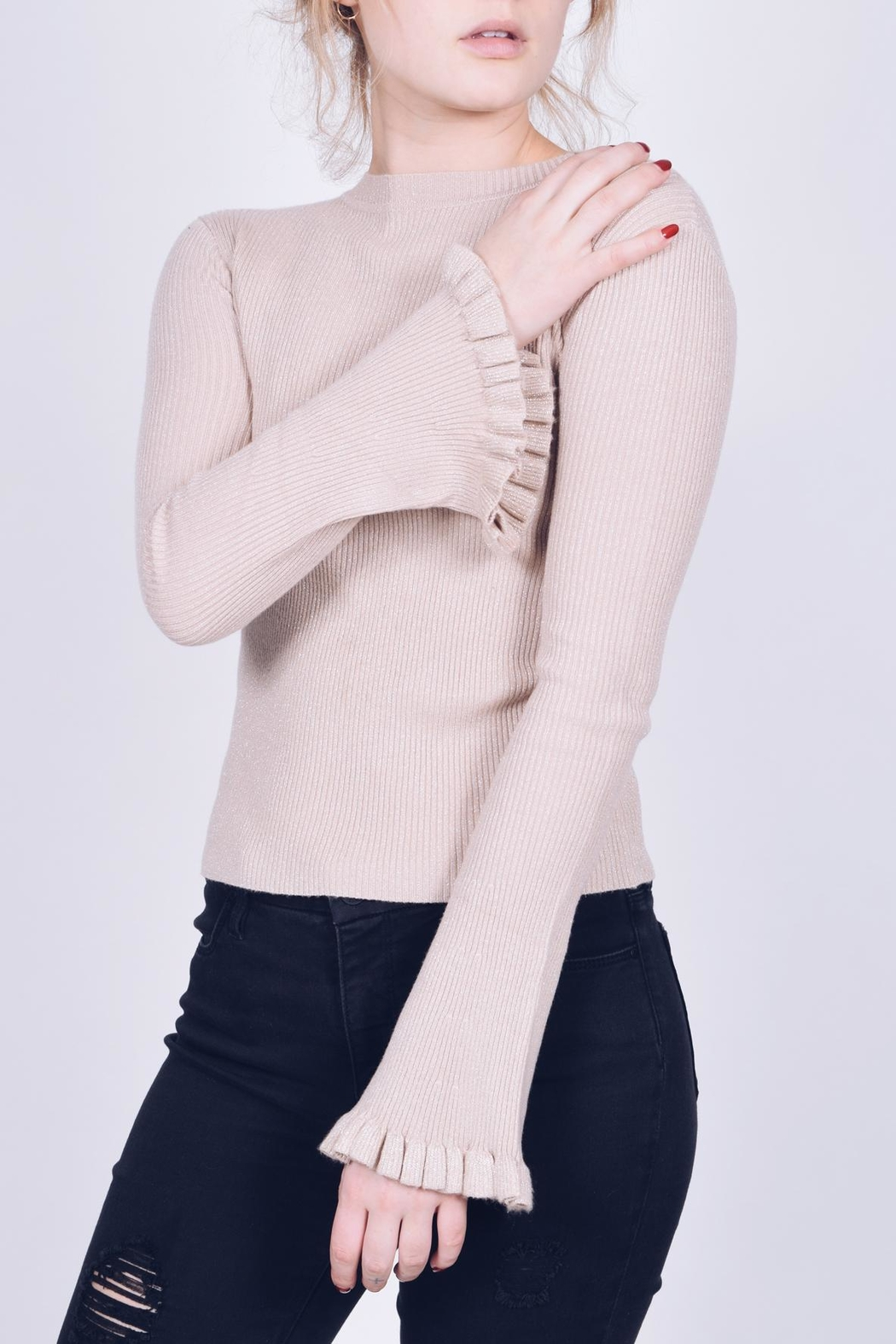 Q2 Ruffle Sleeve Sweater - Main Image