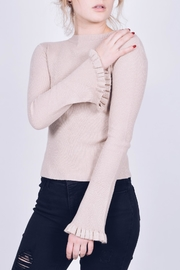 Q2 Ruffle Sleeve Sweater - Front cropped