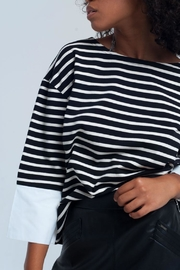 Q2 Striped Contrast Top - Product Mini Image
