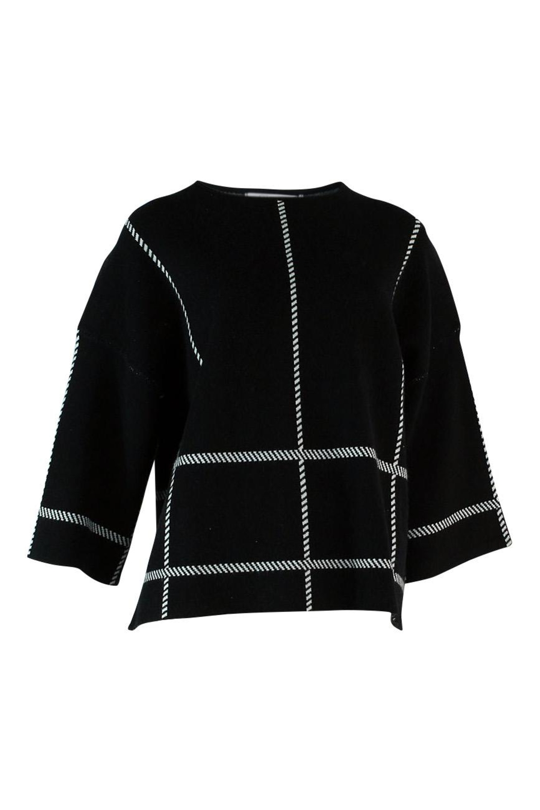 Q2 Striped Crop Sweater - Side Cropped Image