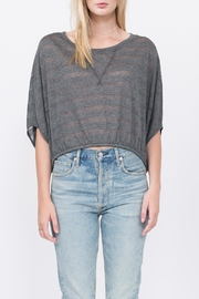 Qi Craig Stripe Top - Front full body
