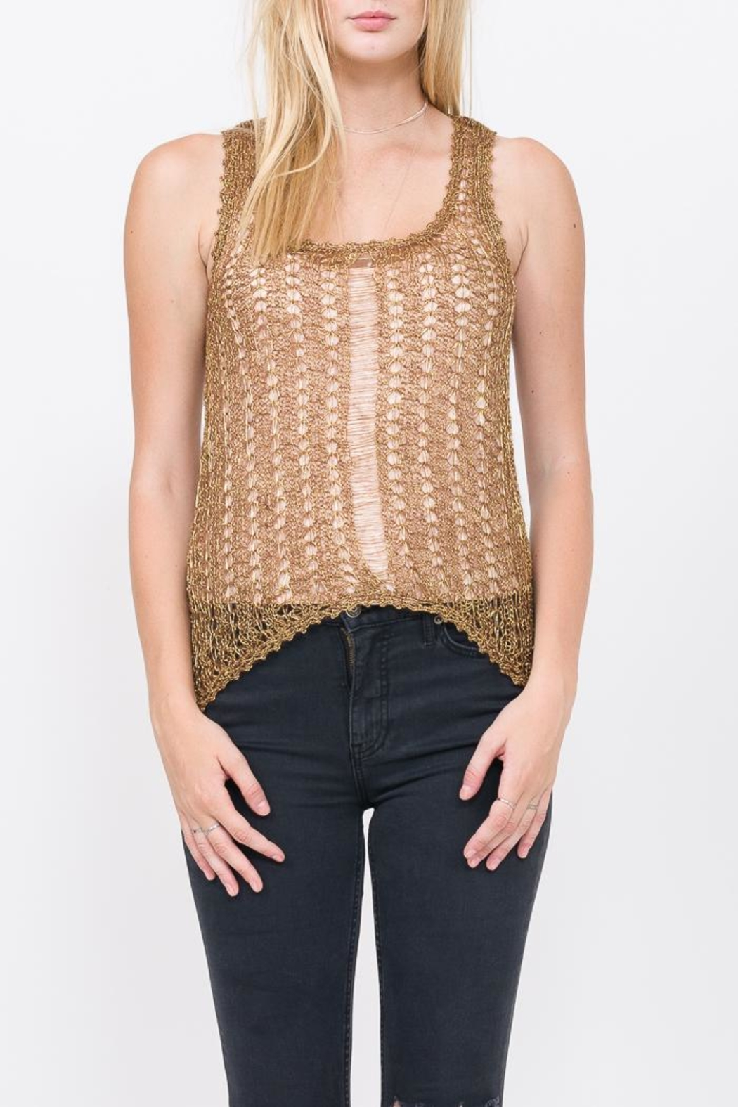 Qi Gold Rush Top - Front Full Image