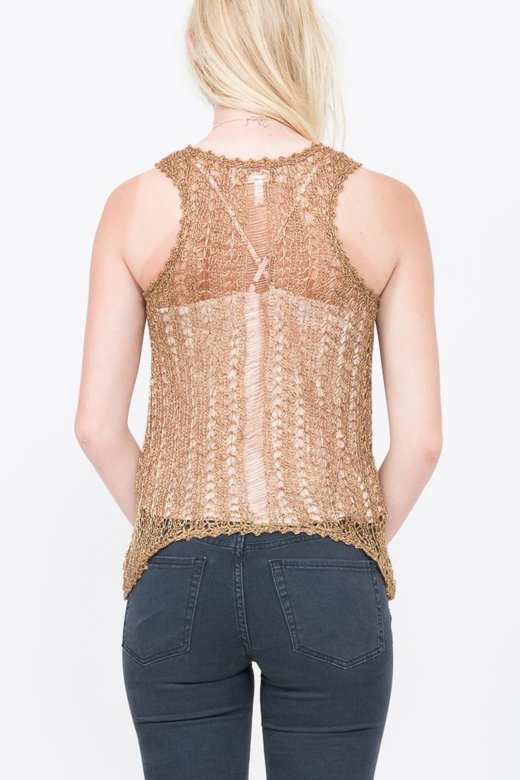 Qi Gold Rush Top - Side Cropped Image