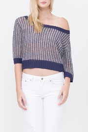 Qi Cashmere Hammock Knitted Tee - Product Mini Image