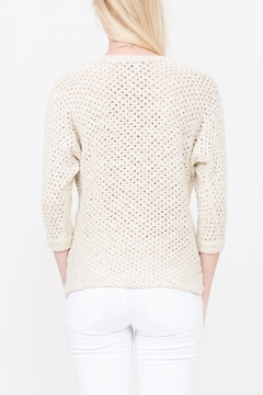 Qi Cashmere Knit Cream Sweater - Alternate List Image