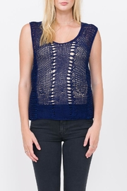 Qi Cashmere Hand Knit Tank Top - Product Mini Image