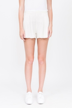 Qi Cashmere White Silk Short - Product List Image