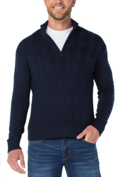 Shoptiques Product: Quarter Zip Pull Over Sweater