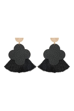 Shoptiques Product: Quarterfoil-Fan Tassel-Earrings