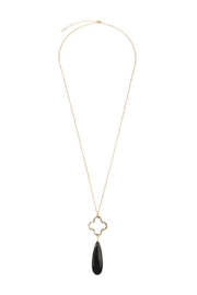 Riah Fashion Quartrefoil Stone Necklace - Product Mini Image