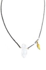 Malia Jewelry Quartz-Labradorite Wing Necklace - Product Mini Image