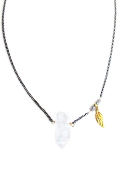 Shoptiques Product: Quartz Labradorite-Wing Necklace