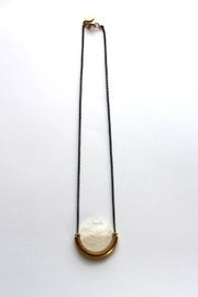 Larissa Loden Quartz Moon Necklace - Front cropped