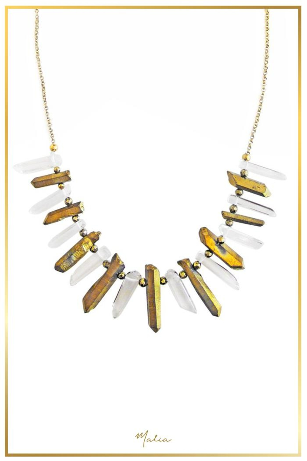 Malia Jewelry Quartz Pyrite Necklace - Main Image