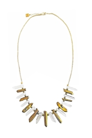 Malia Jewelry Quartz Pyrite Necklace - Product Mini Image