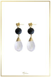 Malia Jewelry Quartz Volcanic Earring - Product Mini Image