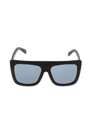 Quay Australia Black Boxy Sunglasses - Front full body