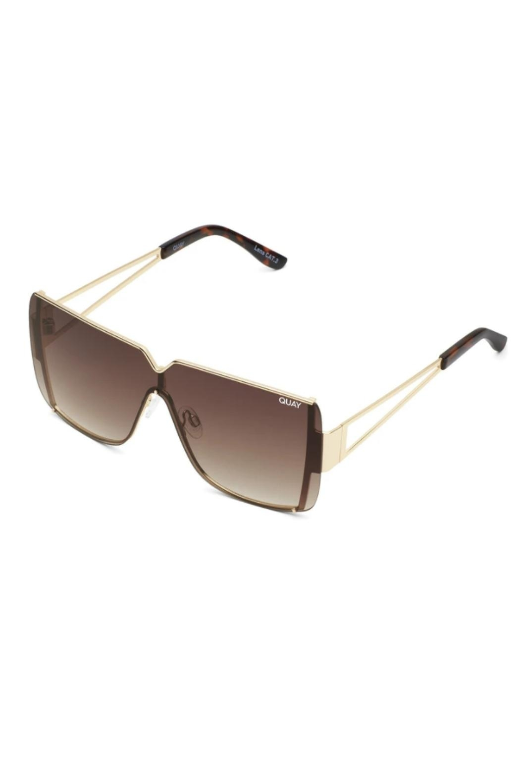 Quay Australia Bank Roll Sunglasses - Front Full Image