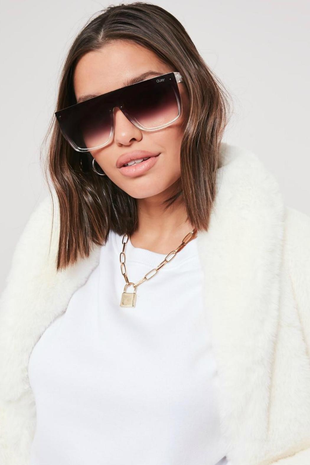 Quay Australia Jaded Fade Sunglasses - Side Cropped Image