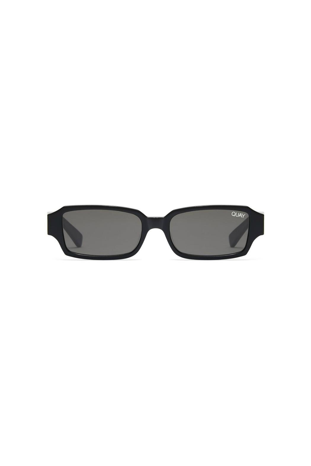 Quay Australia Minimal Rectangle Sunnies - Front Cropped Image