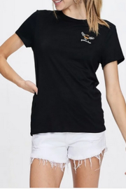crescent Queen Bee Embroidery T Shirt - Product Mini Image
