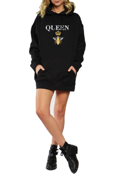 LA Trading Co. Queen Bee Oversized Hoody - Alternate List Image