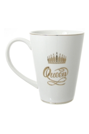 Mardi Gras Collection Queen Ceramic Mug - Front cropped