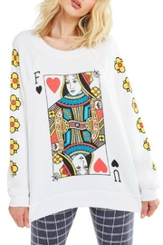 Wildfox Queen-Of-The-Damned Sweatshirt - Front cropped