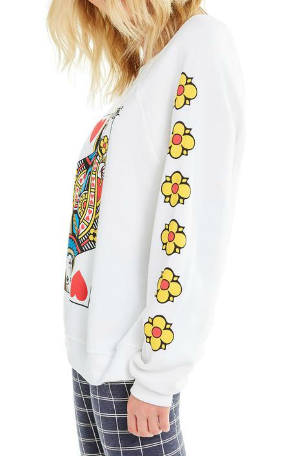 Wildfox Queen-Of-The-Damned Sweatshirt - Side Cropped Image