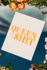 Carla Sue Greeting Cards Queen Shit Card - Product Mini Image