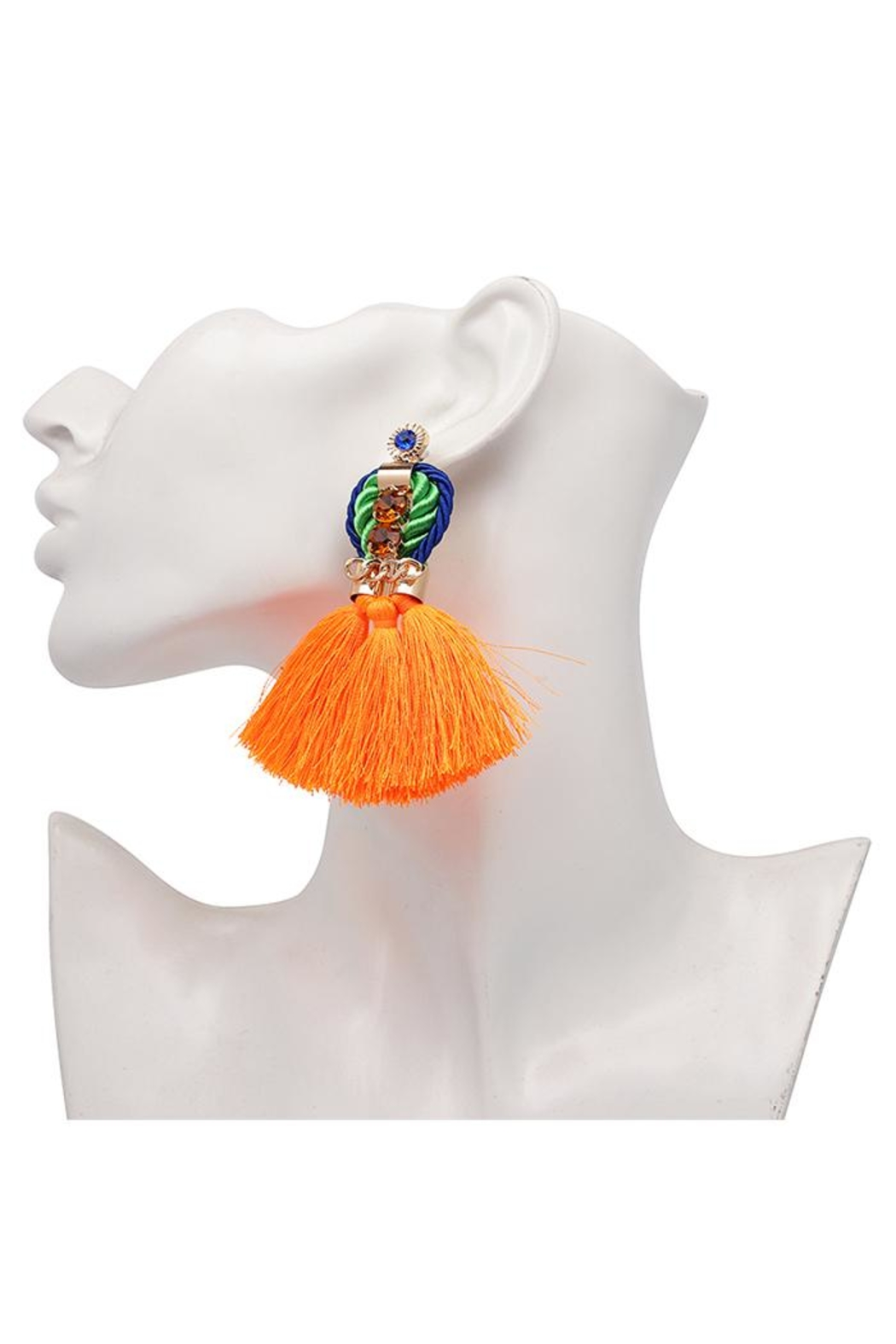 Madison Avenue Accessories Queenly Orange Earring - Front Full Image