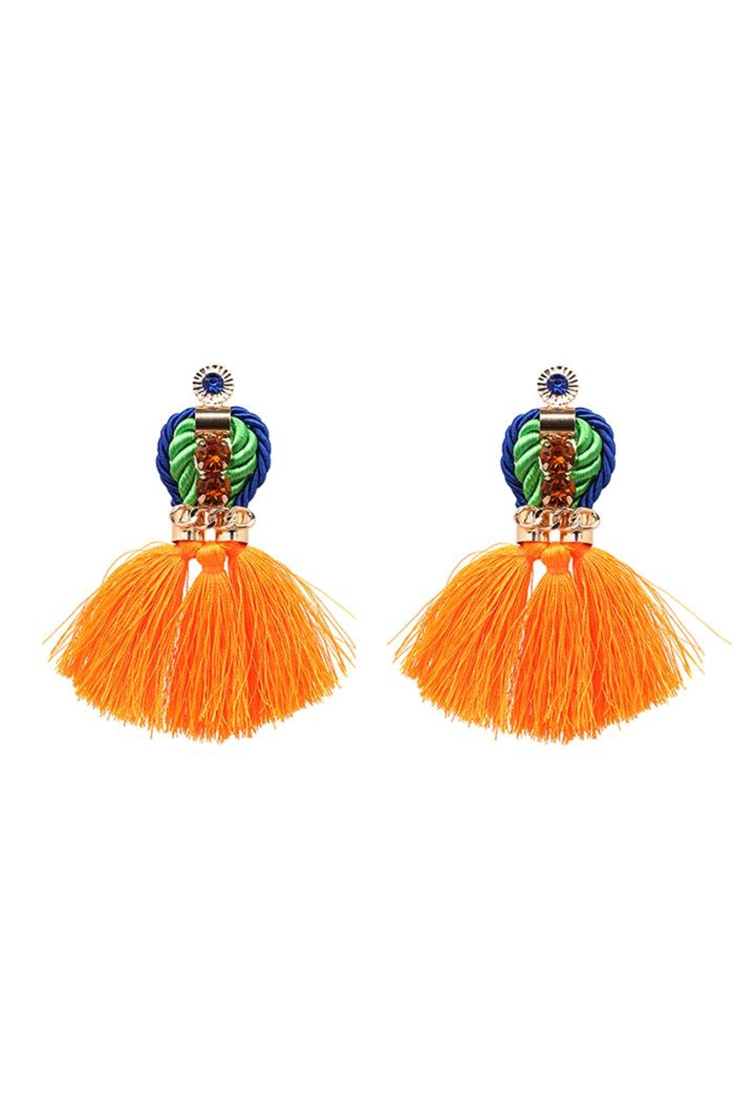 Madison Avenue Accessories Queenly Orange Earring - Main Image