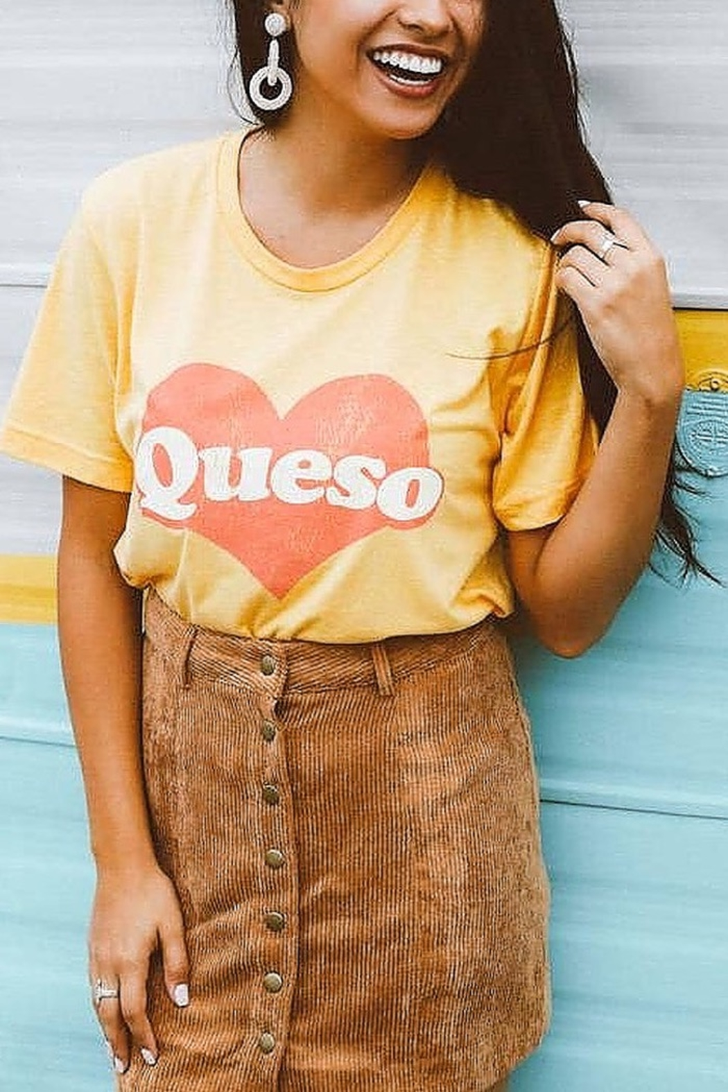 Friday + Saturday Queso Graphic Tee - Front Cropped Image