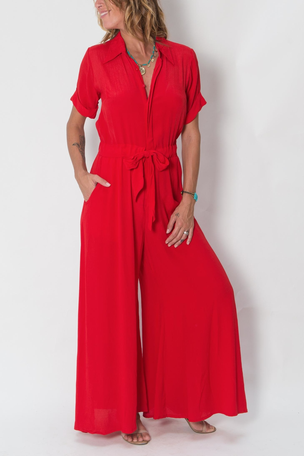 Buddha Sayulita Quest Jumpsuit - Side Cropped Image