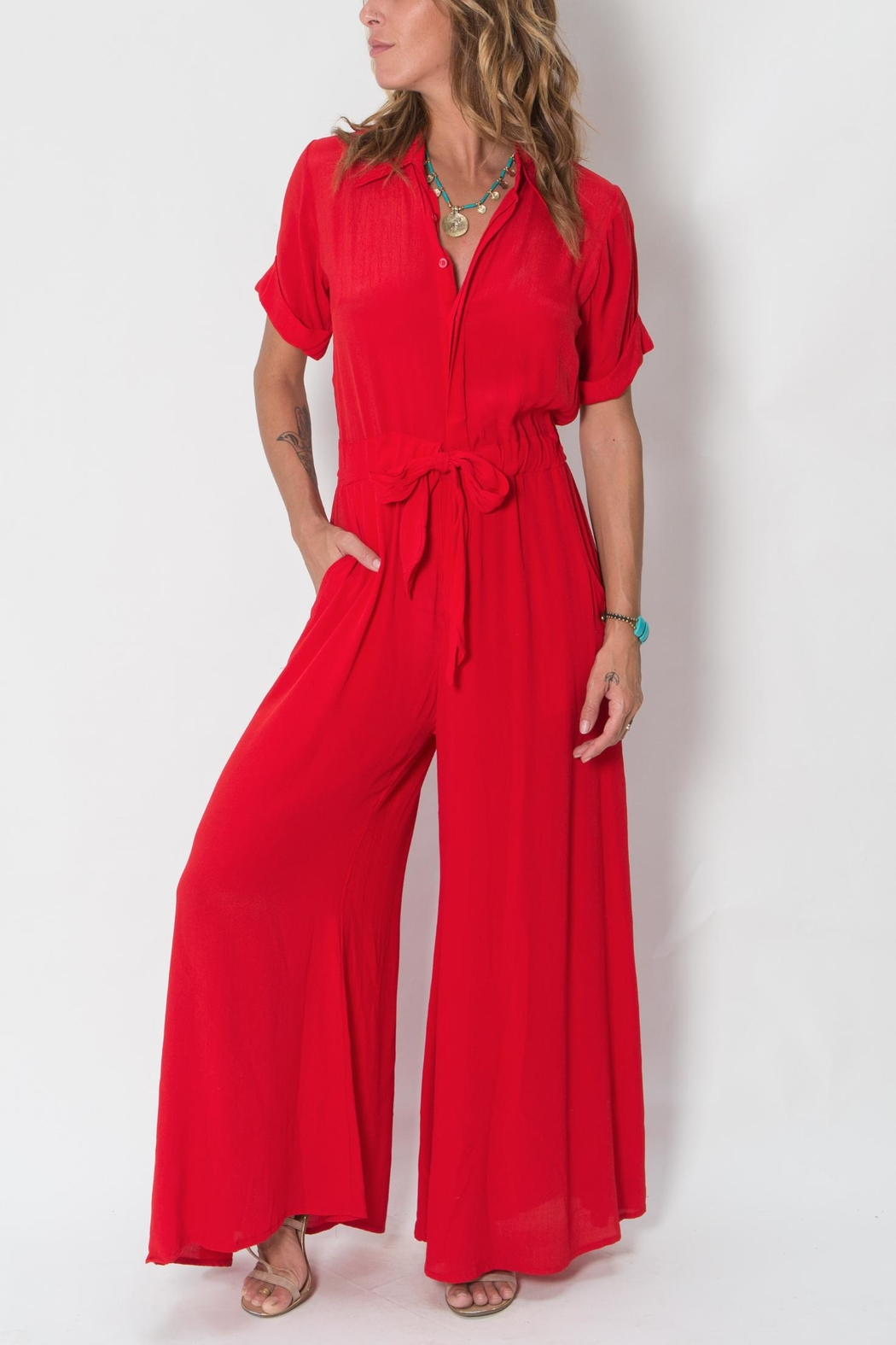 Buddha Sayulita Quest Jumpsuit - Front Cropped Image