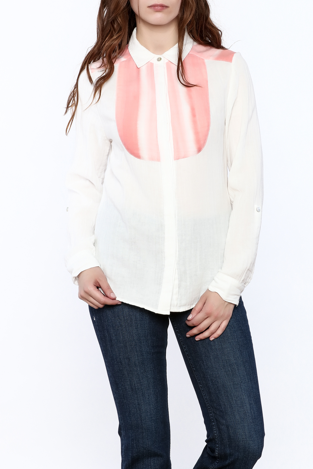 Quiksilver Gauze Button-Down Top - Front Cropped Image