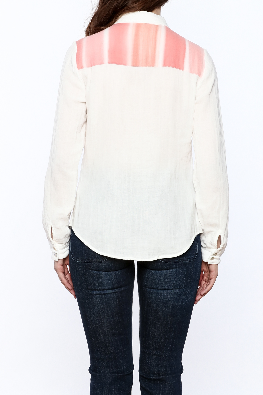 Quiksilver Gauze Button-Down Top - Back Cropped Image
