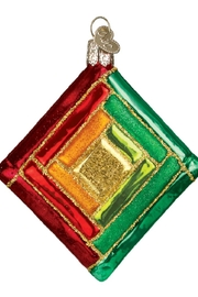 Old World Christmas Quilt Squares Ornaments - Front full body