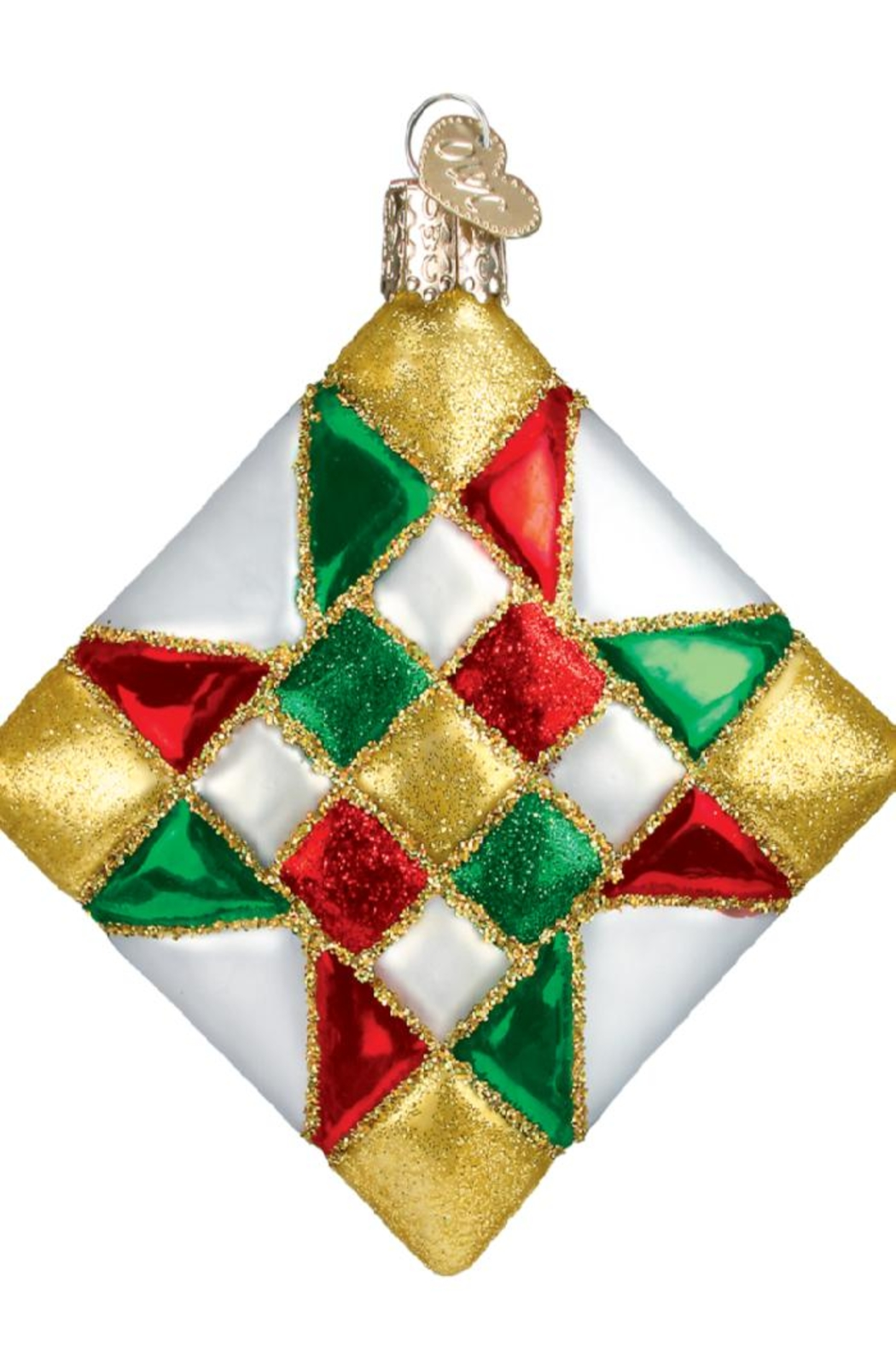 Old World Christmas Quilt Squares Ornaments - Front Cropped Image