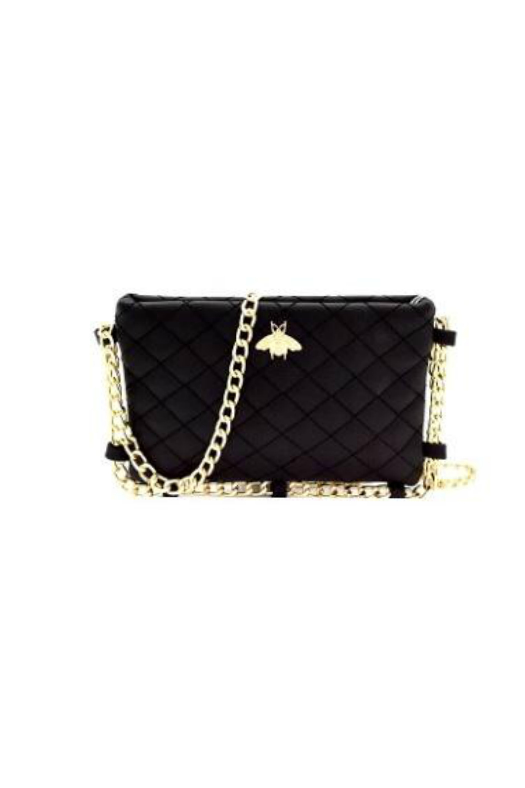 Gift Girl Quilted bee crossbody with gold chain strap - Main Image