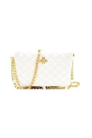 Gift Girl Quilted bee crossbody with gold chain strap - Front cropped