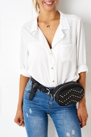 frontrow Quilted Belt Bag - Front cropped