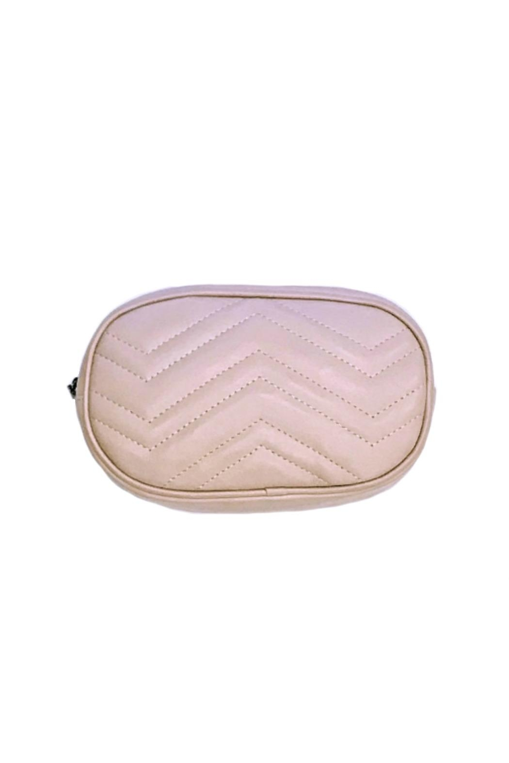 Leather Country Quilted Belt Bag - Front Full Image