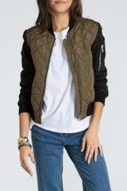 Sans Souci Quilted Bomber Jacket - Product Mini Image